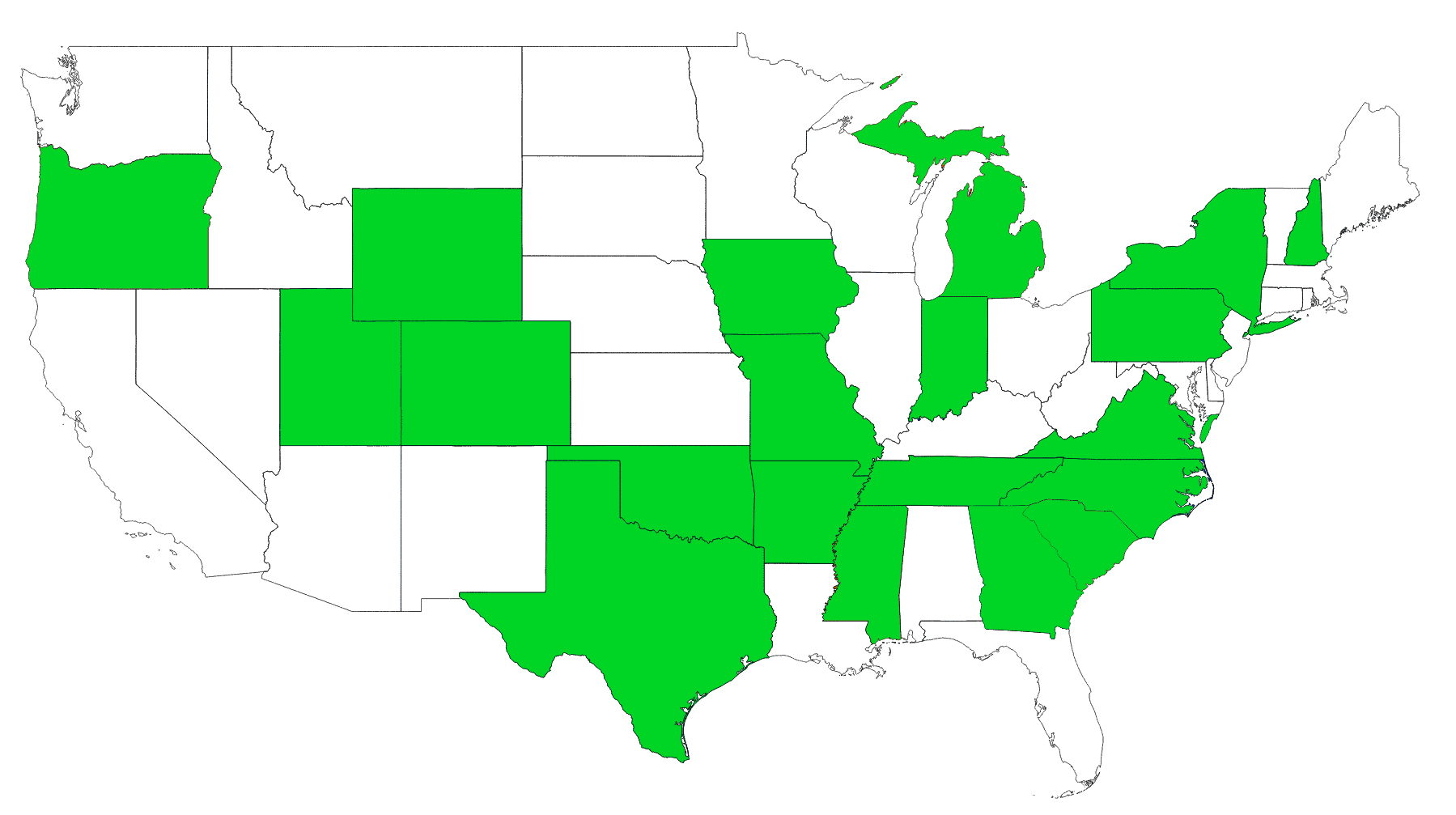 States we are currently working in